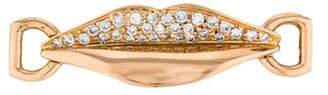 Enigma 18K Diamond Lip Slide Pendant