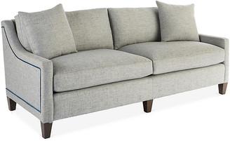 Massoud Furniture Abby Sofa - Gray/Blue