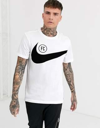 Nike Football F.C. swoosh t-shirt in white
