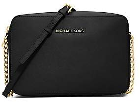 MICHAEL Michael Kors Women's Jet Set Large Textured Leather Crossbody Bag
