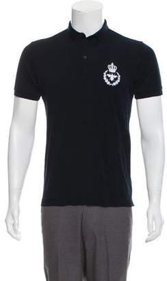 Dolce & Gabbana Crest Applique Polo