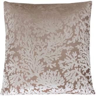 Marlo Lorenz Thro By THRO by Cara Velvet Coral Throw Pillow