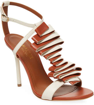Malone Souliers Leather High-Heel Strap Sandal