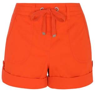 George Orange Button Cuffed Poplin Shorts