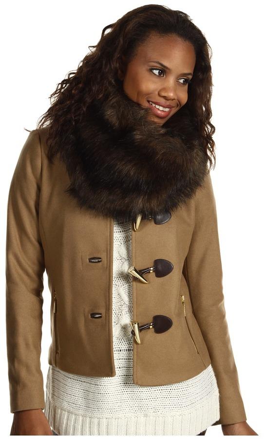 MICHAEL Michael Kors New Wool Melton Short Toggle Jacket (Dark Camel) - Apparel