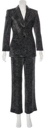 Giorgio Armani Printed Velvet Pantsuit $325 thestylecure.com