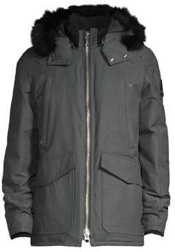 Moose Knuckles Pearson Down& Feather Fur Trim Hooded Jacket