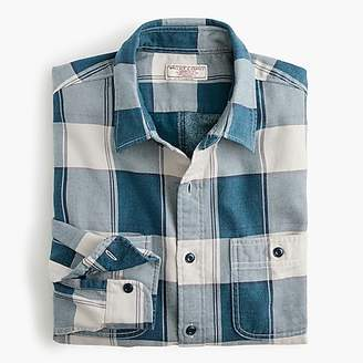J.Crew Slim Wallace & Barnes midweight flannel shirt in bold stripe plaid