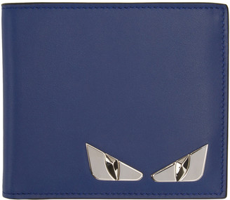 Fendi Blue Monster Wallet $400 thestylecure.com