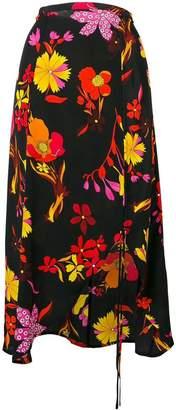 Rixo London floral drawstring skirt