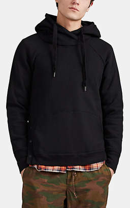 NSF Men's Cotton French Terry Snap-Side Hoodie - Black