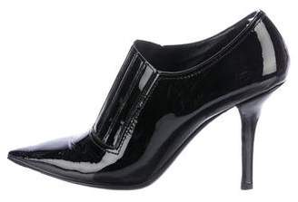 Valentino Patent Leather Pointed-Toe Booties