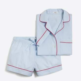 J.Crew Factory Short-sleeve end-on-end pajama set