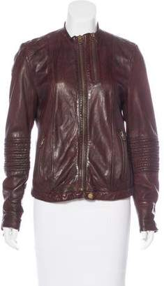 Zadig & Voltaire Distressed Leather Jacket