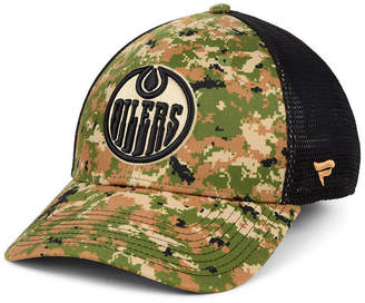 Authentic Nhl Headwear Edmonton Oilers Military Appreciation Speed Flex Stretch Fitted Cap