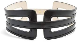 Balmain Wide leather waist belt