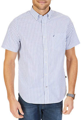 Nautica Striped Short-Sleeve Sport Shirt