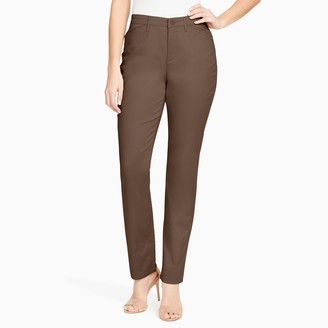 Gloria Vanderbilt Women's Anita Sateen Straight-Leg Pants
