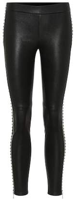 Alexander McQueen Studded leather leggings