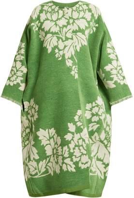 Märit ILISON Reversible floral-jacquard cotton-chenille coat