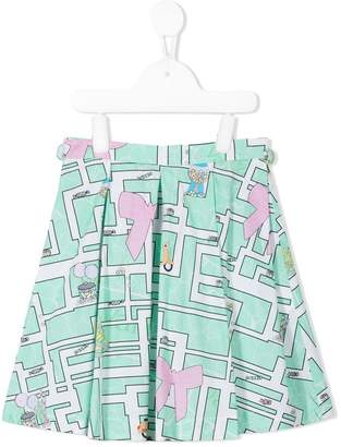 Valmax Kids printed skater skirt