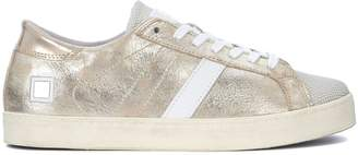 D.A.T.E Hill Low Stardust Platinum Laminated Leather Sneaker