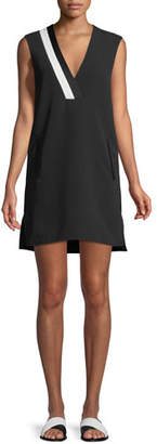 Rag & Bone Lodwick Sleeveless V-Neck Cotton Shift Dress