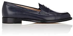 Manolo Blahnik Women's Vazca Leather Penny Loafers - Navy