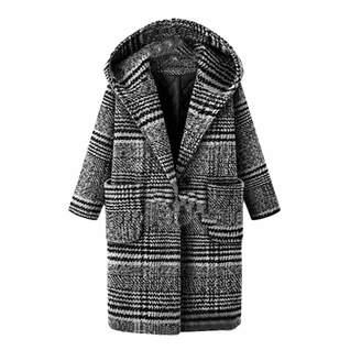 a12423d2532 Mikkar Plus Size Winter Women Lattice Coat Warm Thickening Woolen Cloth  Overcoat