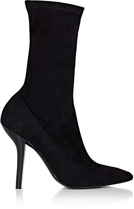 Stella McCartney Women's Sculpted-Heel Faux-Suede Ankle Boots