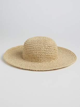 Gap Floppy Straw Hat with Metallic Detail