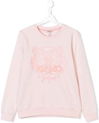 Kenzo TEEN tiger motif sweatshirt