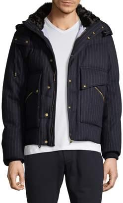 Moncler Men's Stripe Wool Jacket