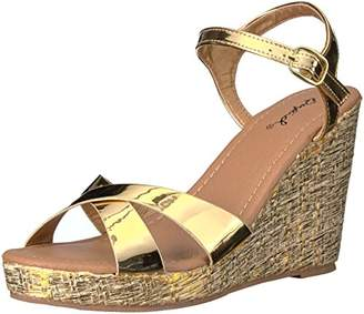 Qupid Women's Lidi-01x Wedge Sandal