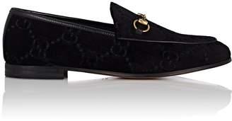 Gucci Women's Bit-Detail Velvet Loafers
