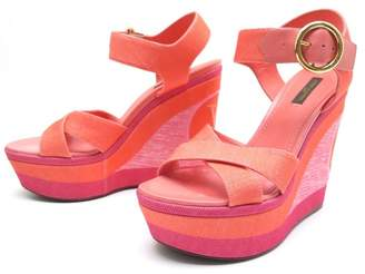 Louis Vuitton Pink Cloth Sandals