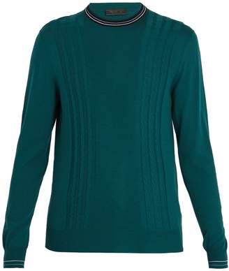 Prada Cable-knit wool sweater