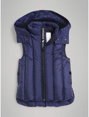 Burberry Detachable Hood Down-filled Gilet , Size: 4Y