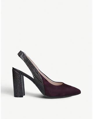 Nine West Arerick slingback suede court shoes