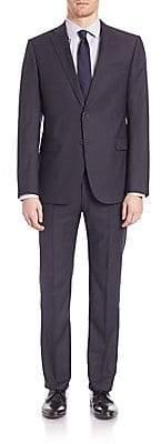 Armani Collezioni Men's Woolen Notched Lapels Suit