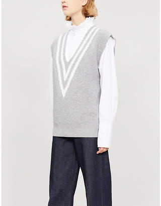 Sandro Abby chevron knitted jumper