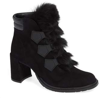 Pedro Garcia Wilmette Bootie with Genuine Shearling Trim