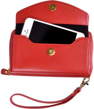 Royce Leather Slim iPhone Ziparound Clutch Women's Wallet in Saffiano Genuine Leather
