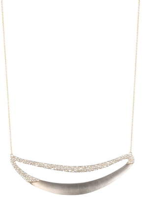 Alexis Bittar Crystal Encrusted Crescent Necklace
