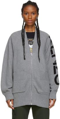 Kenzo Grey Sport Zipped Cardigan