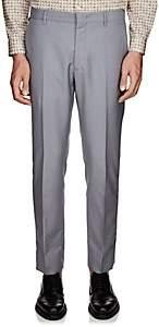 Prada Men's Striped-Side Wool-Mohair Trousers - Gray
