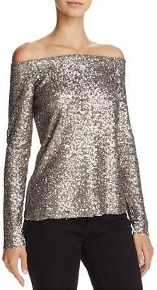 Bailey 44 Title Roll Sequined Off-the-Shoulder Top