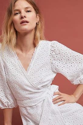 Velvet by Graham & Spencer Merina Eyelet Wrap Dress
