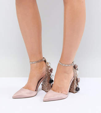 Asos Design DESIGN Passionate Wide Fit Embellished High Heels