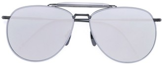 Thom Browne Eyewear mirrored aviator sunglasses